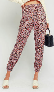 Lina Leopard Pocketed Joggers - Poppy&Stitch