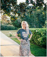 Joey Satin Leopard Skirt - Poppy&Stitch