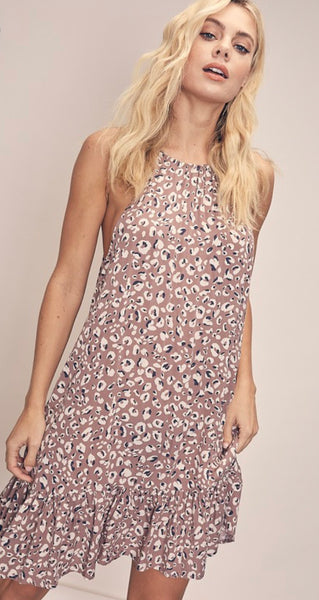 Purr-Fect Animal Print  Dress