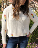 Rainbow Brite Beaded Sweater - Poppy&Stitch