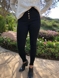 High Rise Black Skinny Jeans - Poppy&Stitch