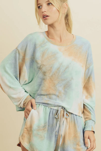 Playa Tie Dye Knit Top