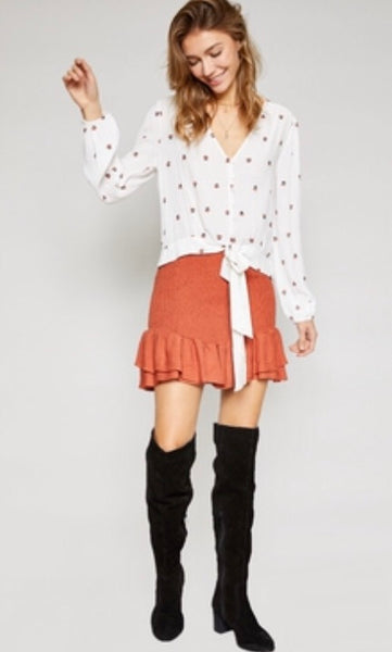 Bandra Smocked Mini Skirt - Poppy&Stitch