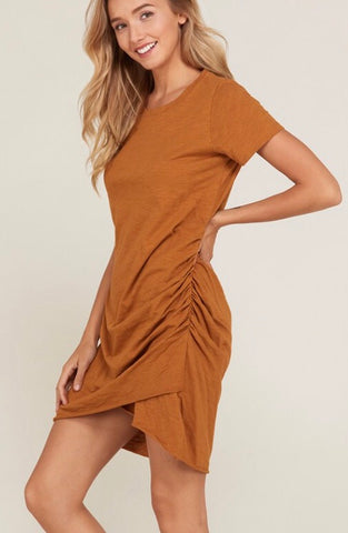 Perfect T Shirt Dress - Camel - Poppy&Stitch