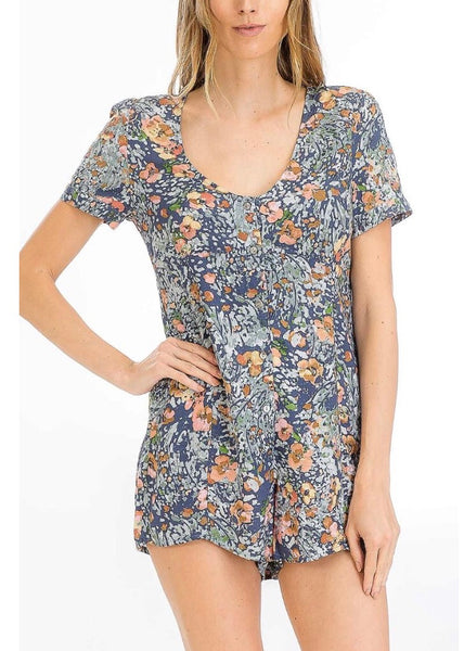 Watercolor Floral Romper - Poppy&Stitch