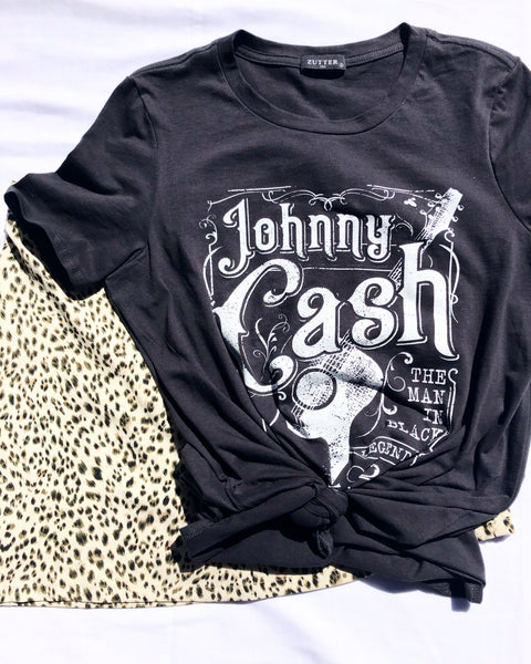 Johnny Cash Cotton Tee - Poppy&Stitch