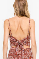 Moroccan Tie Back Top - Poppy&Stitch