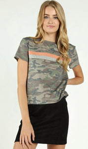 Under Cover Camo Striped Tee - Poppy&Stitch