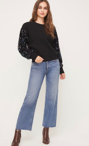 Miley Sequin Sleeve Sweater