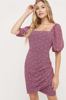 Girl Crush Floral Puff Sleeve Dress