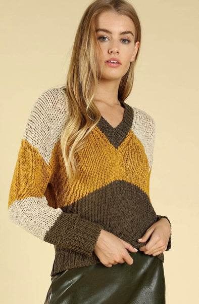 Olive You V-Neck Sweater - Poppy&Stitch