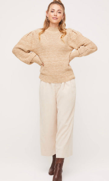 Masiey Mock Neck Sweater