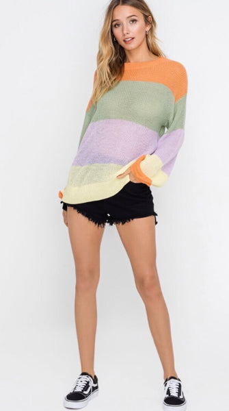 Sorbet Striped Sweater - Poppy&Stitch