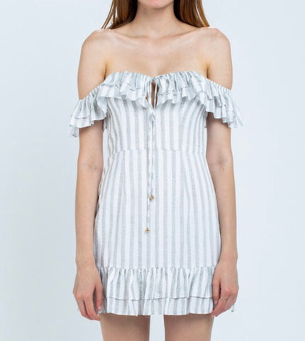 Magnolia Striped Mini Dress - Poppy&Stitch