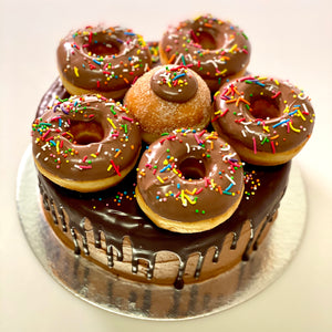CHOCOLATE MUD DONUT CAKE