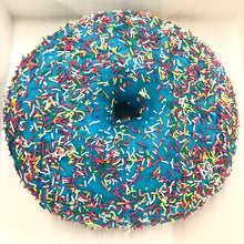 Load image into Gallery viewer, GIANT BLUE BUBBLE GUM DONUT CAKE