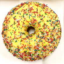 Load image into Gallery viewer, GIANT YELLOW PINEAPPLE DONUT CAKE