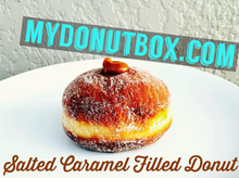 Load image into Gallery viewer, MINI SALTED CARAMEL FILLED DONUTS (16 PACK)