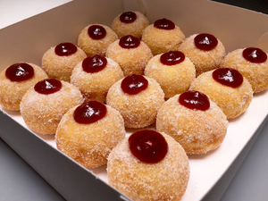 MIXED BERRY FILLED DONUTS (12 PACK)