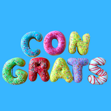 Load image into Gallery viewer, 'CONGRATS' DONUT MESSAGE