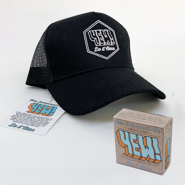 YEW! TRUCKER HAT + WAX (GIFT BUNDLE)