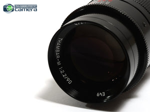 Leica Thambar-M 90mm F/2.2 Lens Black Paint 11697 *BRAND NEW*