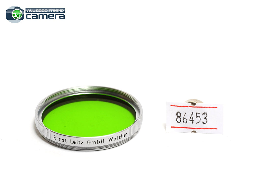 Leica Leitz E39 39mm GGr Green Filter Silver/Chrome *MINT-*