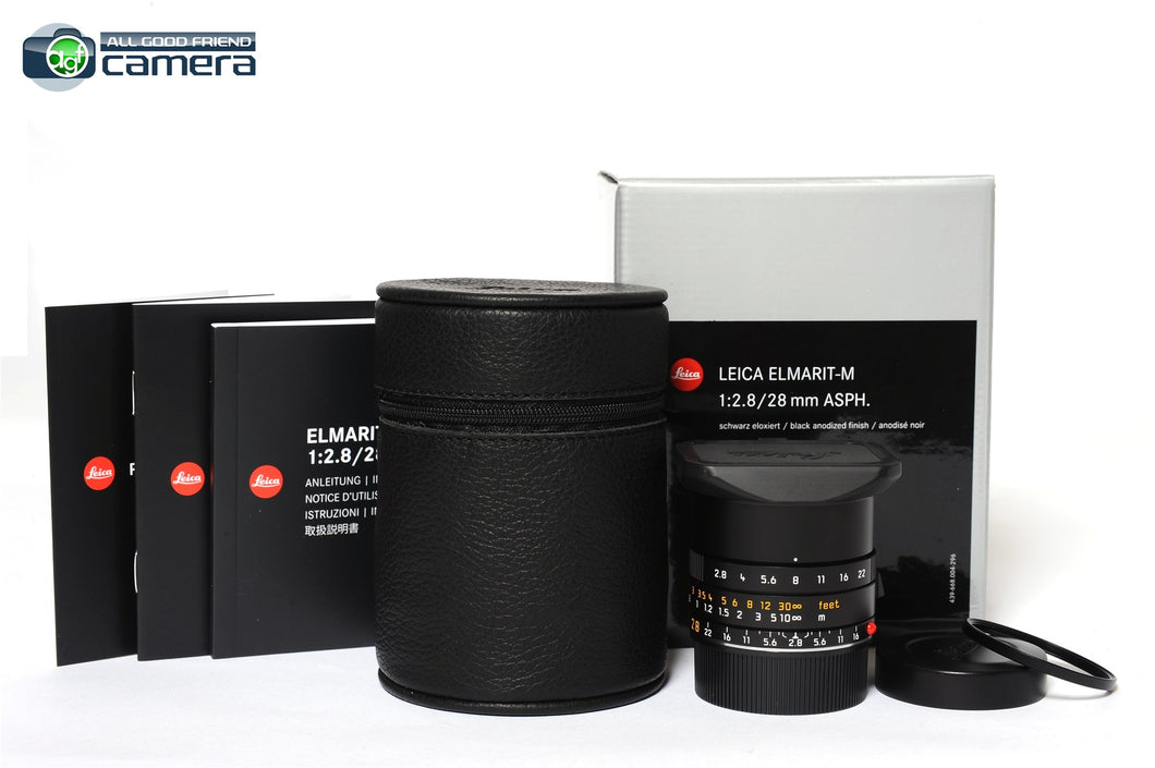 Leica Elmarit-M 28mm F/2.8 ASPH. E39 Lens Black 11677 *BRAND NEW*