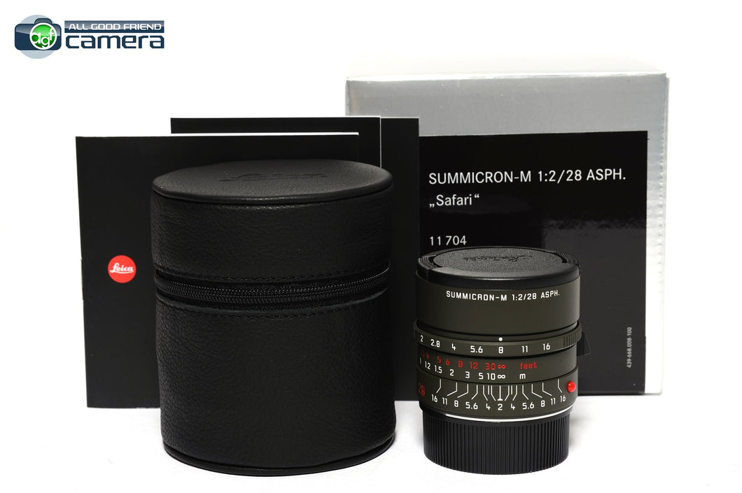 Leica Summicron-M 28mm F/2 ASPH. Edition 'Safari' Lens 11704 *BRAND NEW*