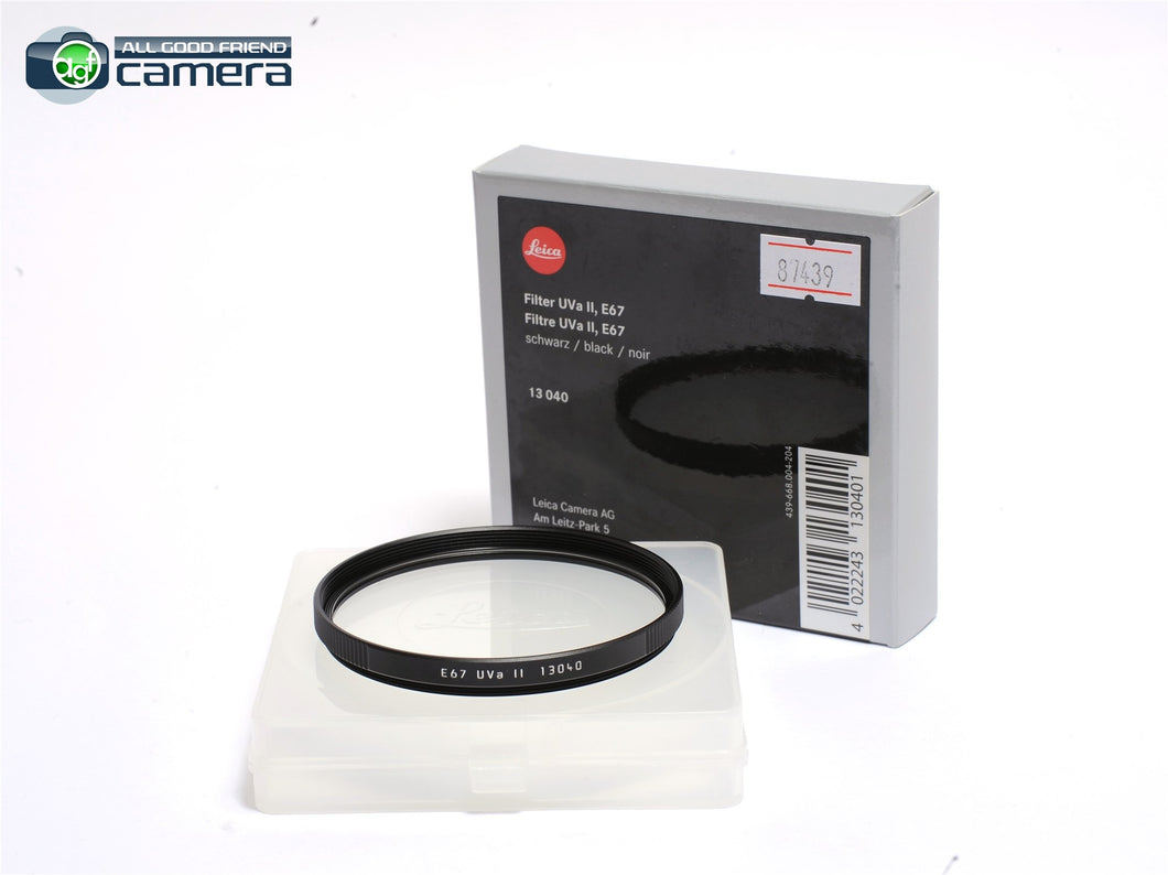 Leica E67 67mm UVa II Filter Black 13040 *BRAND NEW*