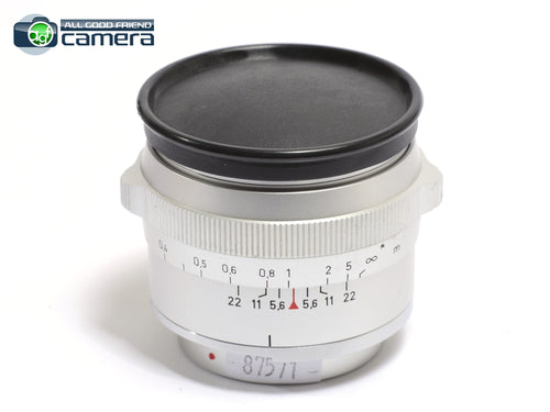 Carl Zeiss Distagon 35mm F/4 Lens Silver for Contarex *EX+*