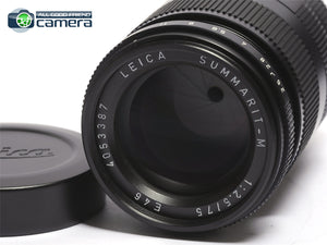 Leica Summarit-M 75mm F/2.5 E46 Lens 6Bit Black 11645 *MINT- in Box*