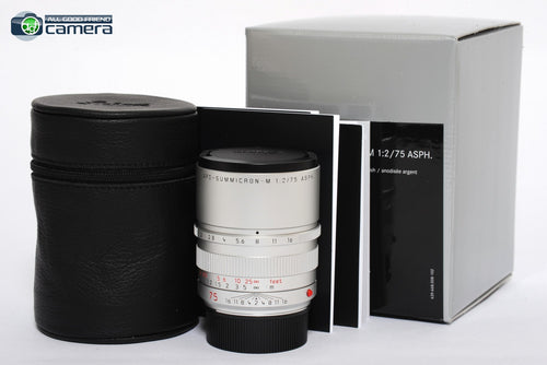 Leica APO-Summicron-M 75mm F/2 ASPH. Lens Silver Ltd. Edition 11701 *BRAND NEW*
