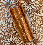 Copper Water Bottle Hammered Shiny finish 27 Fluid Oz
