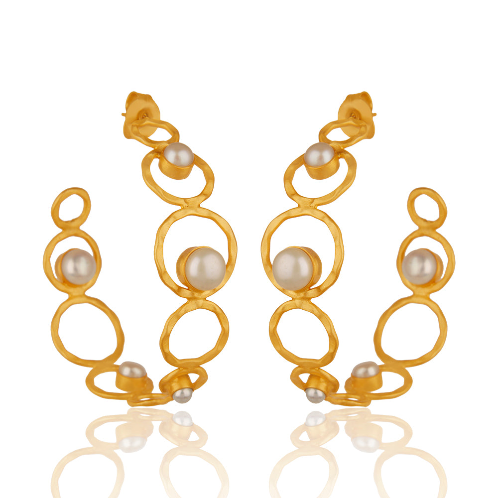 Fresh Water Pearl Infinity Hoops