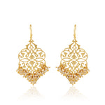 Filigree Gold filled Danglers laced with Pearls
