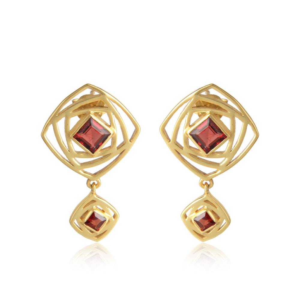 Garnet Attraction- Joy:Passion:Energy (Sterling Silver Gold vermeil)