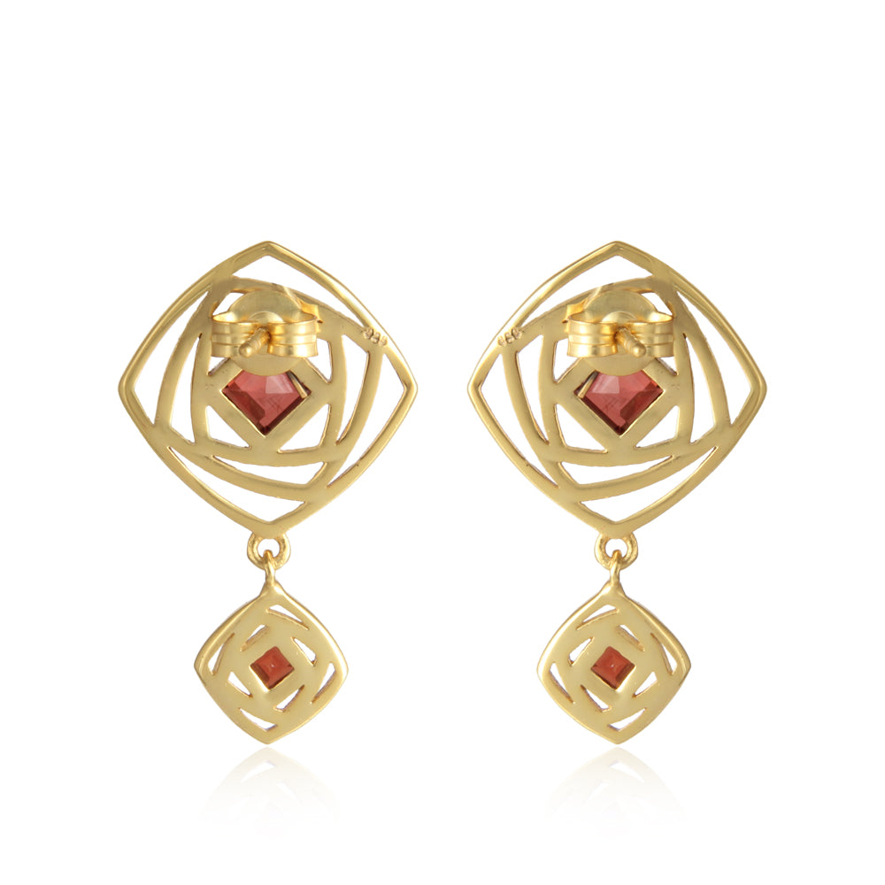 Garnet Attraction- Joy:Passion:Energizing (Sterling Silver Gold vermeil)