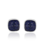 Sterling Silver Lapis Ear Tops