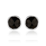 Sterling Silver Black Onyx Ear Tops