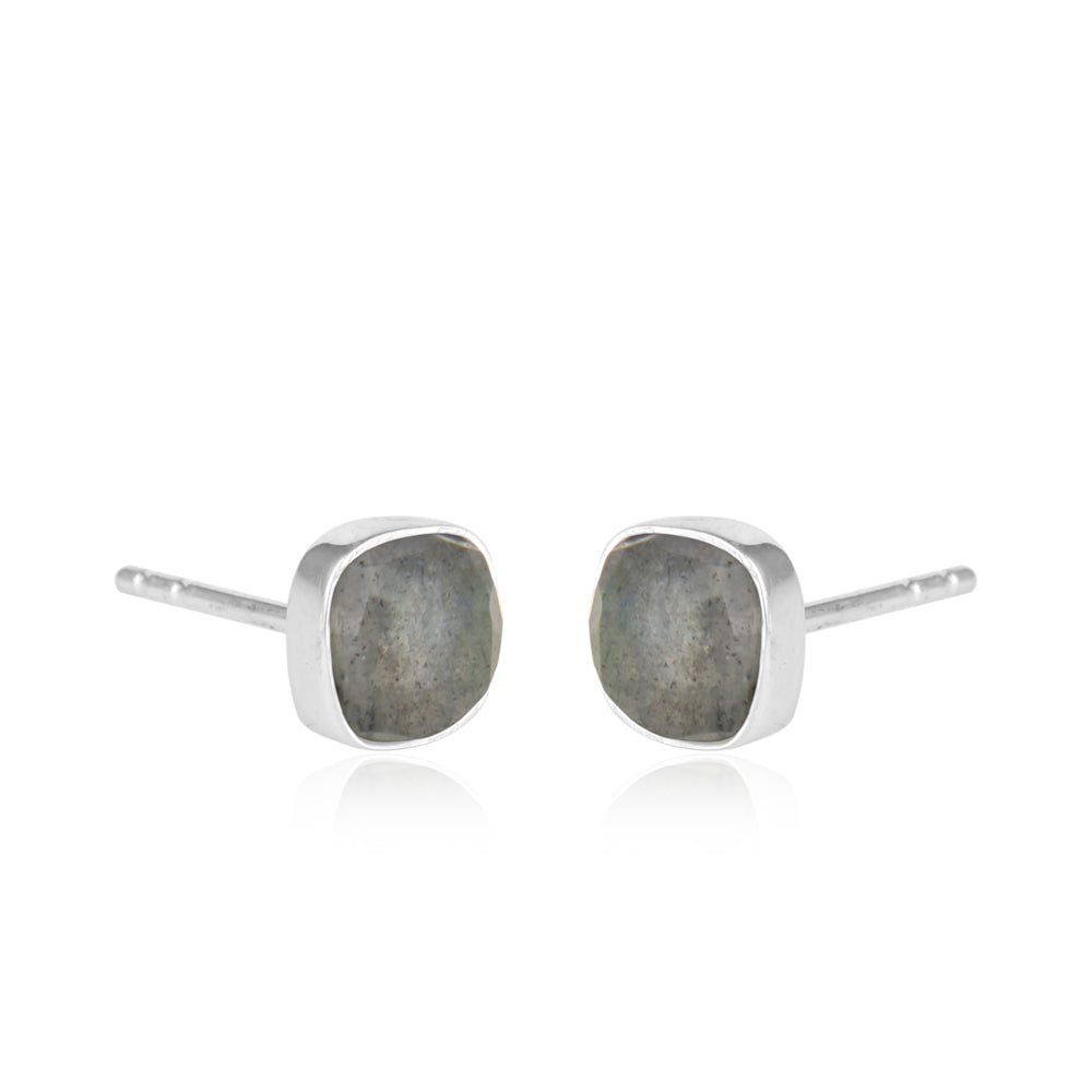 Sterling Silver Labradorite Ear Tops