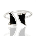 Black Onyx laced with Cubic Zirconium  set in 925 Sterling Silver