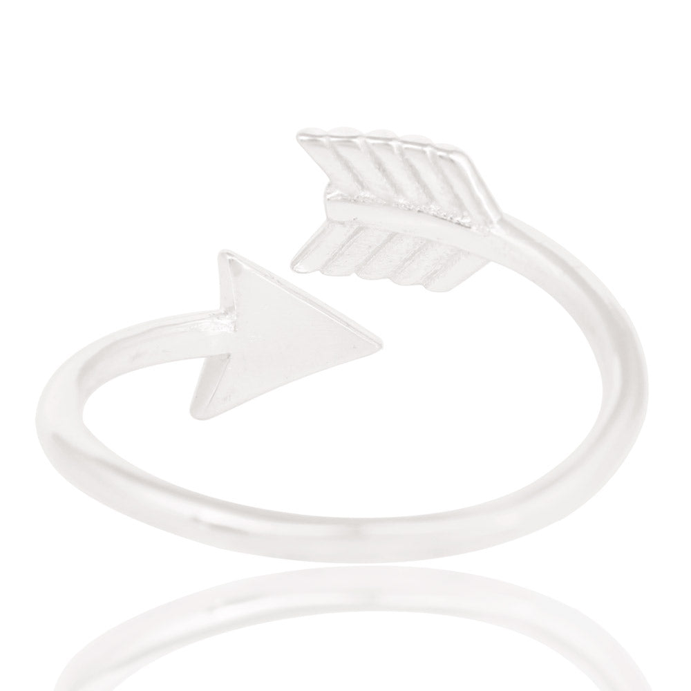925 Sterling Silver Arrow Ring  symbolic of Protection and Direction of power stacker Ring