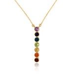 Divine Chakra Alignment, Pendant and Necklace, Sterling Silver Gold vermeil