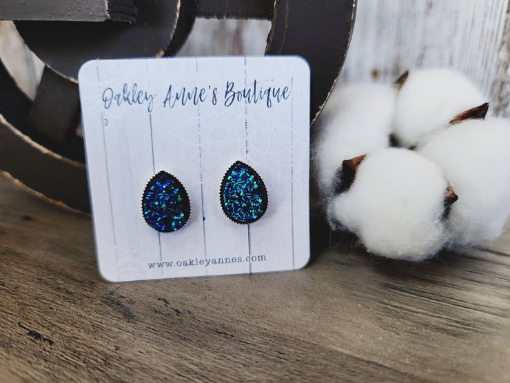 Metallic Blue Studs