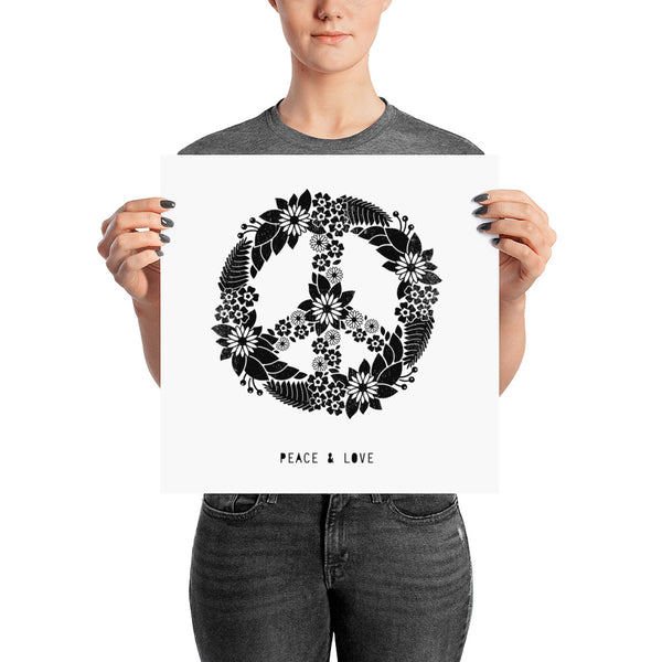 Peace and Love Print - Vision City Design Studio