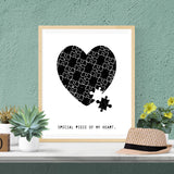 Special Piece Of My Heart Print - Vision City Design Studio