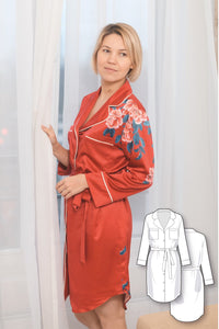Woven robe for women #5113