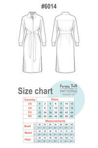 Long sleeve midi shirt dress #6014