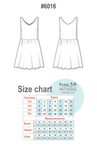 Gathered Skirt Sleeveless Dress #6016